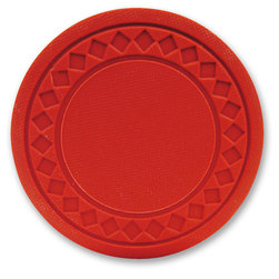 Super Diamond Poker Chips - Red