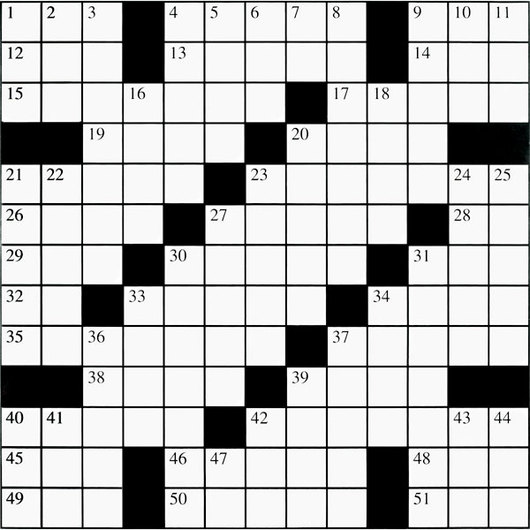 68 Words, 2 ft. x 2 ft. Crossword Puzzle Grid Set of 90 - Set #2