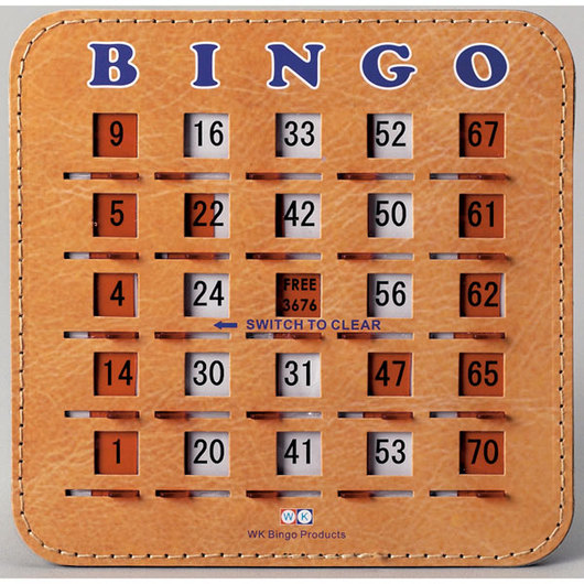 Premium Bingo Slide Cards - Pkg. of 100