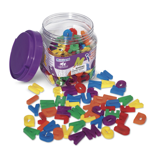 Small Multi-Colored Magnetic Uppercase Letters Set