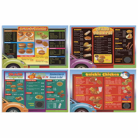 Drive-Thru Menu Math - Set of 24 Extra Intermediate Menus
