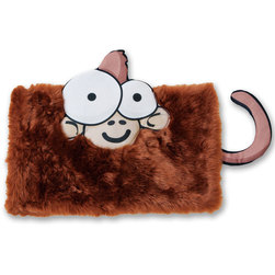 Weighted Animal Lap Pads, Brown Monkey