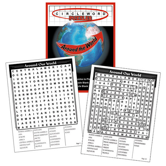 Circle-Word Puzzles Around the World