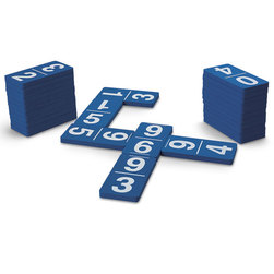 Foam Number Dominoes Set