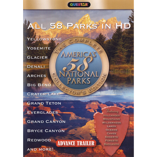 America's 58 National Parks DVD Set
