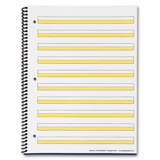 BrightLines Spiral Notebook with Yellow Highlighting - 1/2 in. Spacing