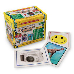 Nouns, Verbs, and Adjectives Learning Cards