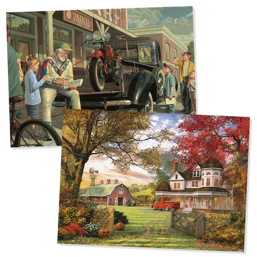 Days Gone By Puzzles - Set of 2