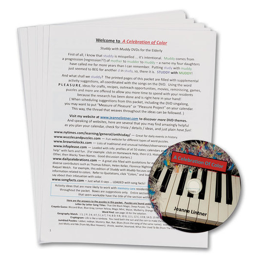 <q>That Nice Piano Lady's</q> Sing-Along DVD with Themed Activities Folder: A Celebration of Color