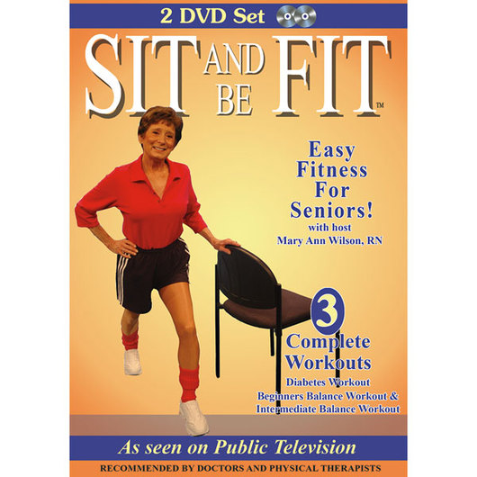 Sit and Be Fit™: Diabetes and Balance Workouts DVDs - Set of 2