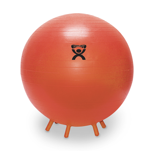 CanDo® Inflatable Exercise Ball with Stability Feet - 22 in.