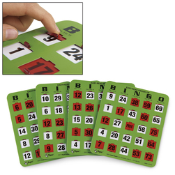 Easy-Read Fingertip Slide Bingo Cards