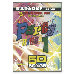Chartbuster Series Karaoke CD+G - Party Songs - 3-Disc Set