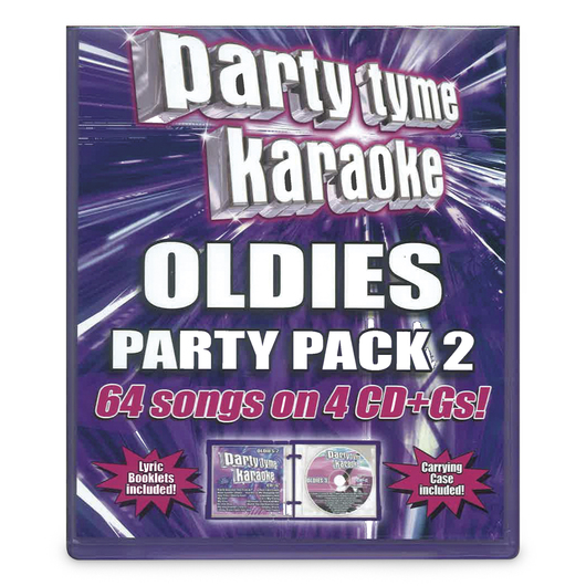 Party Tyme Karaoke CD+G Series - Oldies Party Pack 2 - 4 CD+Gs