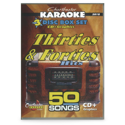 Chartbuster Series Karaoke CD+G - Songs of the '30s & '40s - 3-Disc Set