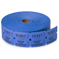 Double Roll Tickets - Roll of 2,000 - Blue