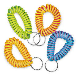 Neon Coil Key Chains