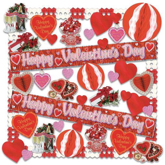 Decorating Kit - Valentine - 40 Pieces