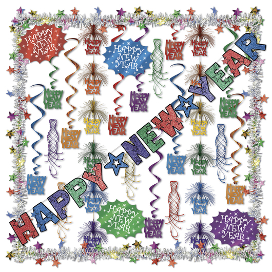 Decorating Kit - New Year's - 27 Pieces