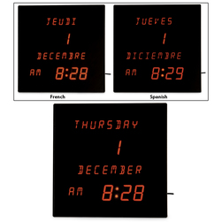 Easy-Read Digital Clock/Calendar