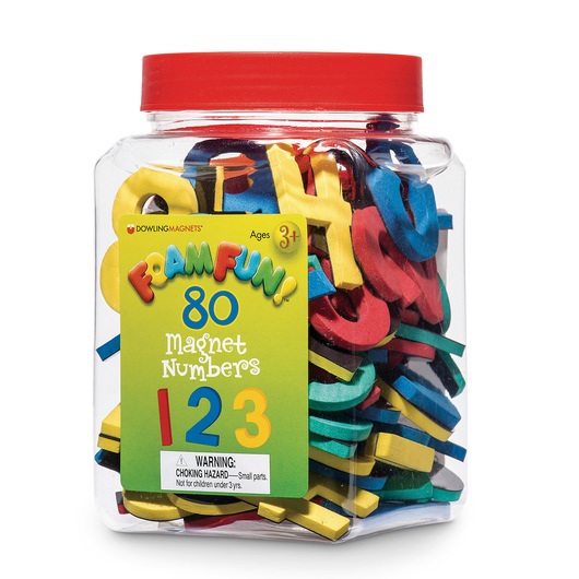 Foam Fun Magnetic Numbers and Operation Signs - 80 Pieces