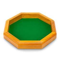 Wooden Octagonal Dice Tray