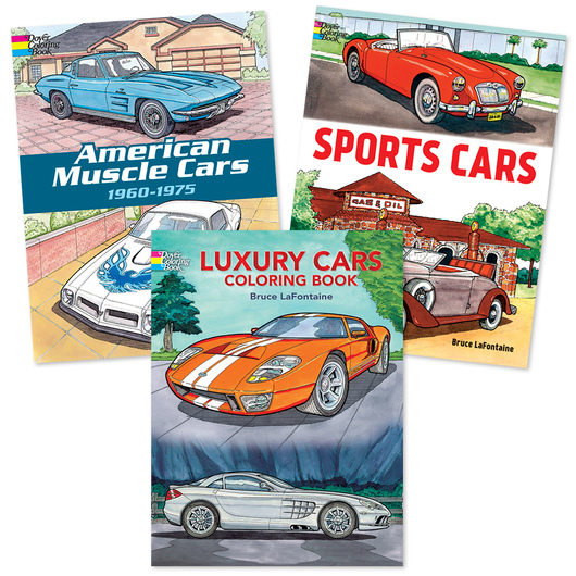 Cars Adult Coloring Book Set
