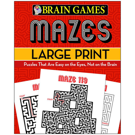 Brain Games® Large Print Mazes
