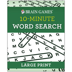 Brain Games Large Print 10-Minute Word Search
