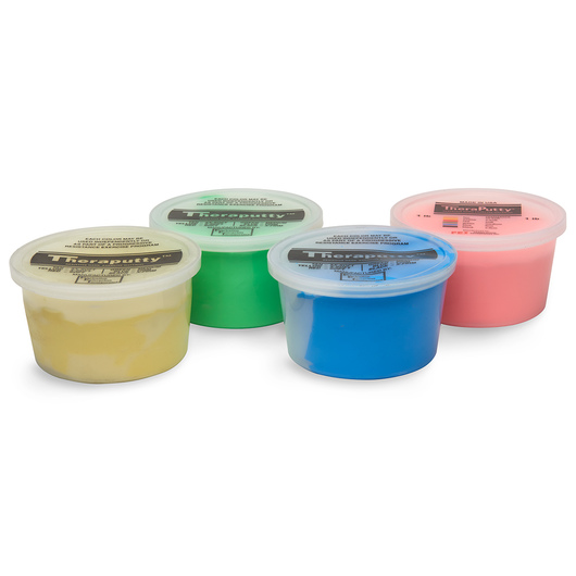 CanDo® Theraputty™ Exercise Material - 1 lb. Each - Set of 4 Containers