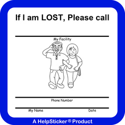 HelpSticker® - Assisted Living if Lost Sticker - Pack of 100