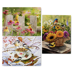 Colorful Birds Puzzles - Set of 3
