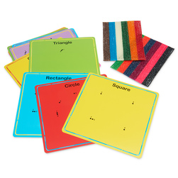 Wikki® Basic Learning Set - Basic Shapes Cards,