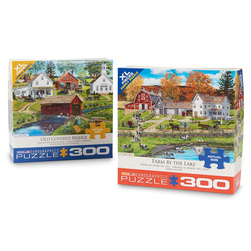 Old-Time Country Scene Puzzle Set - 300 Pieces
