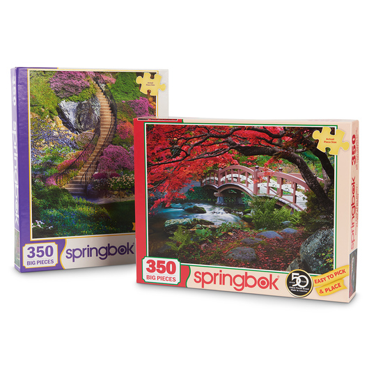 Puzzles to Remember Flower Garden Set - 350 Pieces - Set 1