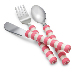 Gripables™ Comfortable Cutlery - Pink