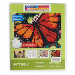 Sticker Mosaic Poster Kits - Butterfly