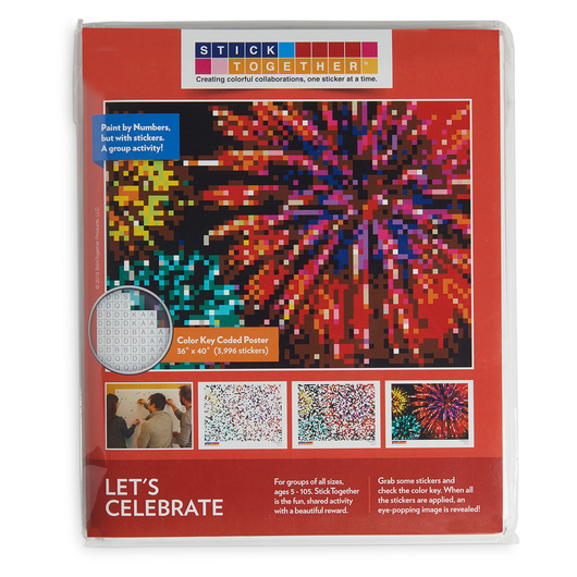 Sticker Mosaic Poster Kits - Let's Celebrate