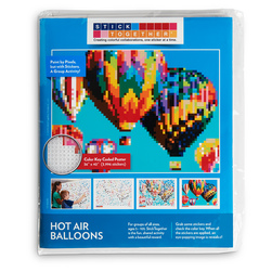 Sticker Mosaic Poster Kits - Hot Air Balloons