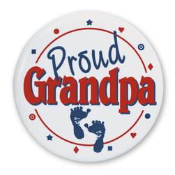 Proud New Family Buttons - Proud Grandpa