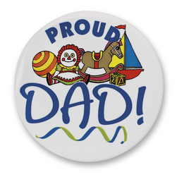 Proud New Family Buttons - Proud Dad