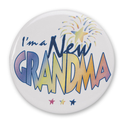 Proud New Family Buttons - New Grandma