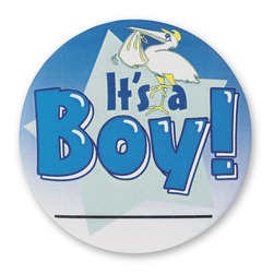 Proud New Family Buttons - It's a Boy!