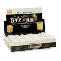 Everlasting Votive Candle - 1-1/2 in. x 2-1/2 in., Molded Plastic
