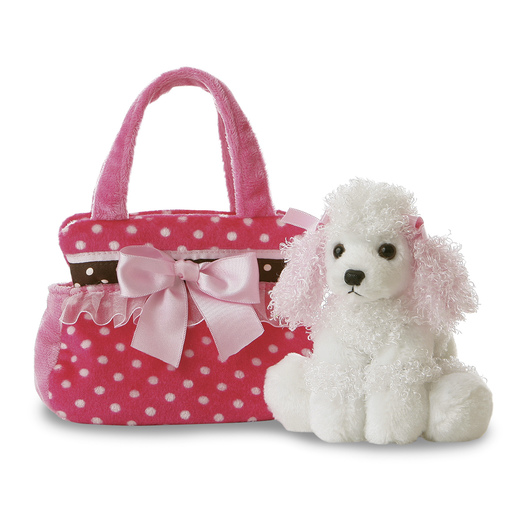 Plush Pet Carrier - Polka Dot Poodle