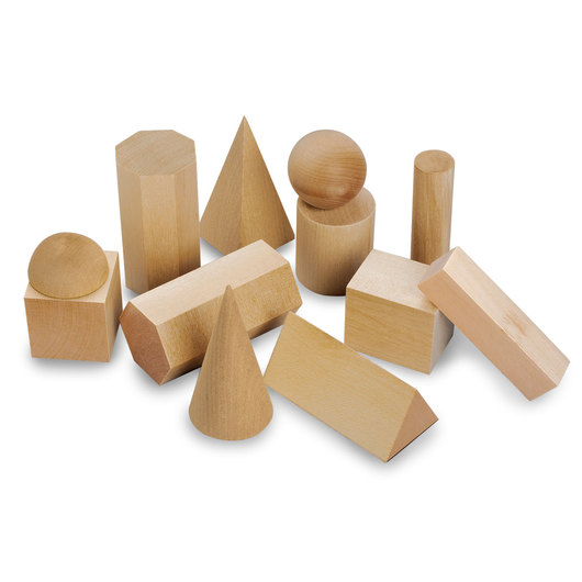 12 Wooden Geometric Solids