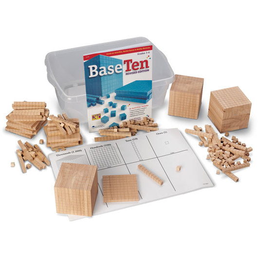 Wooden Base 10 Block Place Value Set