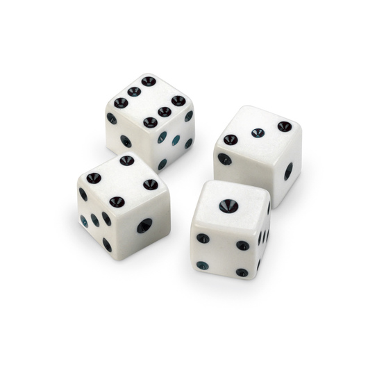 Dot Dice - Set of 12 - White