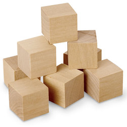 Plain Wooden Cubes, 1 in.