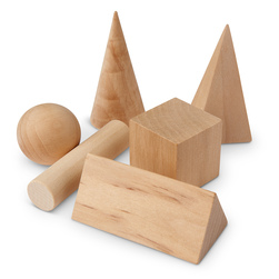 Wooden Geometric Solids, 6 pcs.